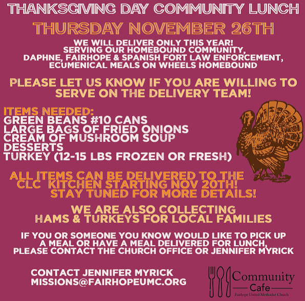 Community Lunch - Delivery Only!