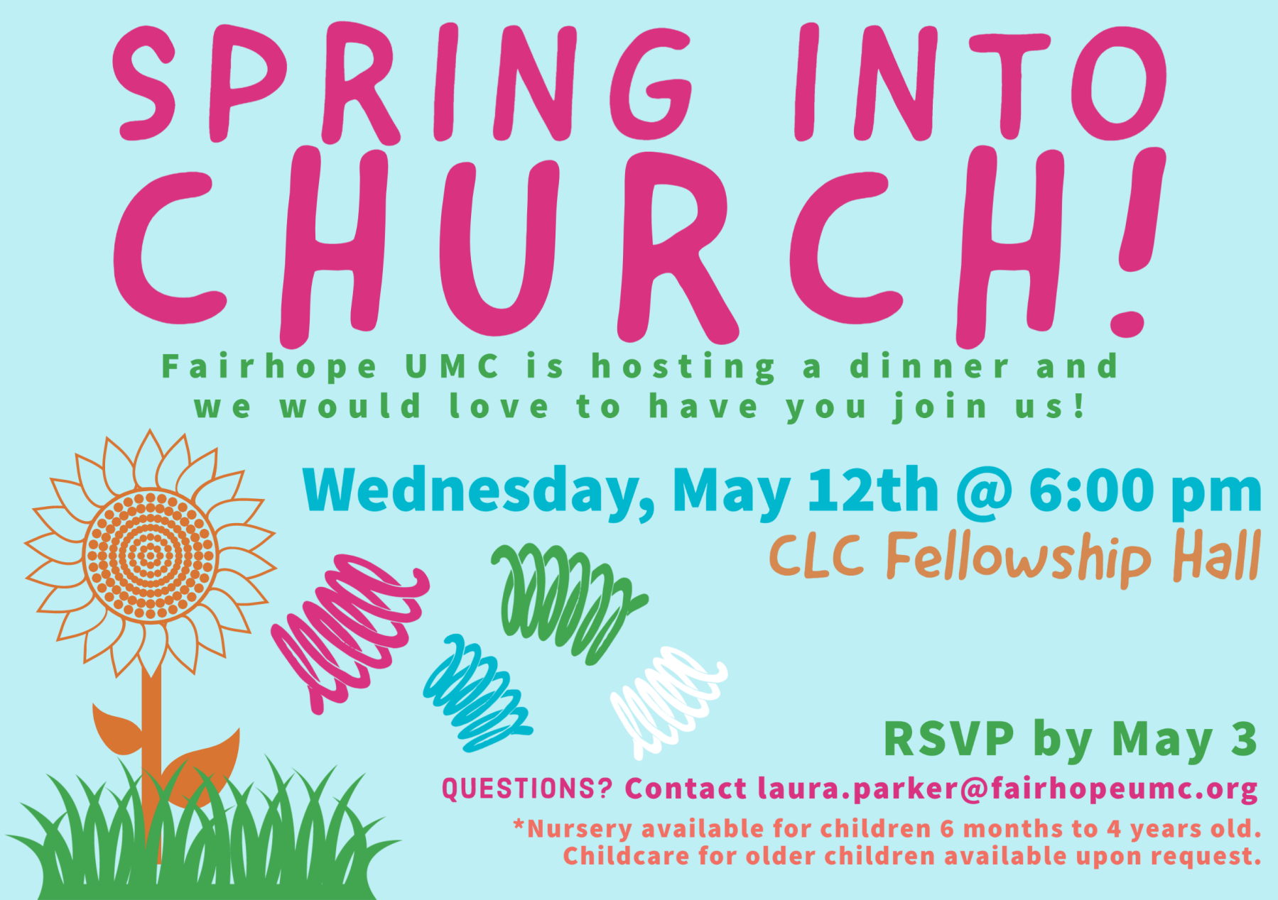 Spring Into Church: New Members & Visitors Dinner